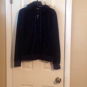 Juicy Couture zip up hoodie Sz:L blue